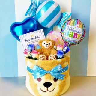 ☆ダッフィーの豪華おむつケーキ 男の子出産祝いに大人気!