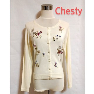 Chesty - 【Chesty 】 チェスティ ビジュー付き カーディガン