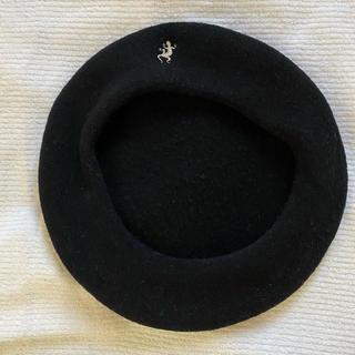 アニエスベー(agnes b.)のagnes b femme♡ベレー トカゲ ブラック(ハンチング/ベレー帽)