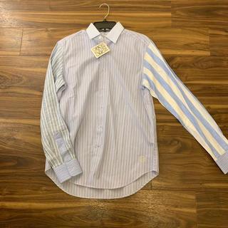 ロエベ(LOEWE)の新品 Loewe ロエベ シャツ タグ付 38 ブルー ストライプ(シャツ)