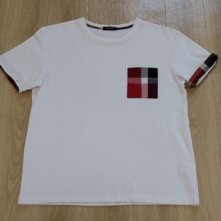 BLACK LABEL CRESTBRIDGE - 美品!! L 白 赤チェックポケT 半袖Tシャツ Black Label CRE
