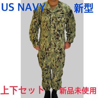 送料無料 中古美品 USNAVY 新デザイン ユニフォーム 上下セット(戦闘服)