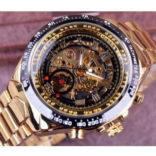 新品 送料込み 正規品 WINNER 自動巻き ゴールド ベゼル メンズ腕時計(腕時計(デジタル))