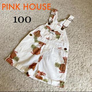 ピンクハウス(PINK HOUSE)のピンクハウス♡オーバーオール♡ショートパンツ♡男女兼用♡100(パンツ/スパッツ)