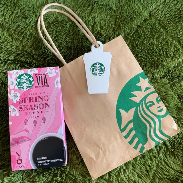 Starbucks Coffee(スターバックスコーヒー)のスターバックス ヴィア® スプリング シーズン ブレンド 10本入り紙袋・タグ付 食品/飲料/酒の飲料(コーヒー)の商品写真
