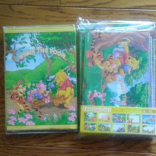 Disney - くまのプーさんメモ帳、封筒、シールセット