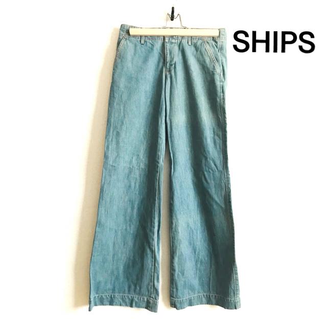 SHIPS(シップス)のシップスSHIPS デニム ワイドパンツ レディースのパンツ(デニム/ジーンズ)の商品写真