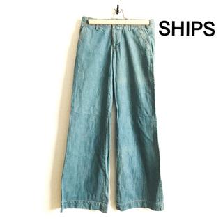 SHIPS - シップスSHIPS デニム ワイドパンツ