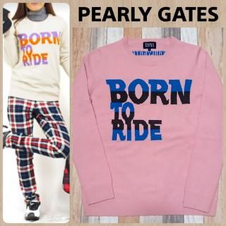 パーリーゲイツ(PEARLY GATES)のPEARLY GATES❇️カシミヤ100% ロゴニット(ニット/セーター)