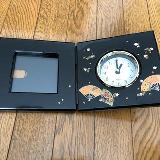 ミタニ 塗り物時計(置時計)