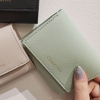 スリーコインズ(3COINS)の即購入可能新品折り財布ミニ財布ミントグリーンピスタチオ高見え(財布)