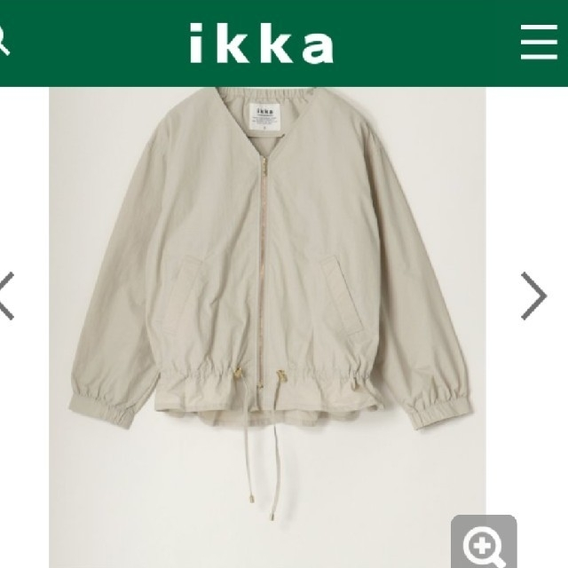 ikka(イッカ)のikka ノーカラージャケット M レディースのジャケット/アウター(ノーカラージャケット)の商品写真