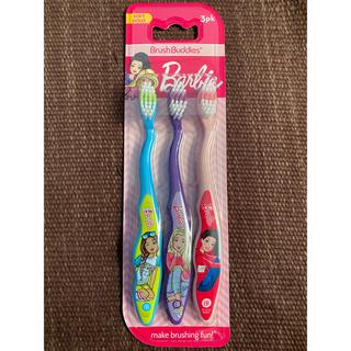 ディズニー(Disney)の新品 Barbie 歯ブラシ3本1セット(歯ブラシ/歯みがき用品)