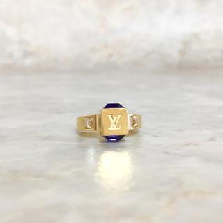 ルイヴィトン(LOUIS VUITTON)の正規品 ヴィトン 指輪 ギャンブル ストーン ゴールド クリスタル 石 リング2(リング(指輪))