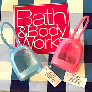 Bath & Body Works - ハンド除菌ジェル用 ホルダー ブルー&ピンクの2点セット