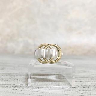 エルメス(Hermes)の正規品 エルメス 指輪 ドゥザノー コンビ シルバー ゴールド ベルト リング2(リング(指輪))