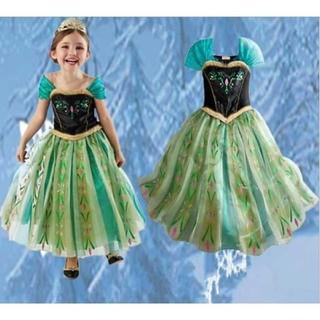 アナトユキノジョオウ(アナと雪の女王)の☆アナ☆  ドレス 120  ディズニー アナと雪の女王(ワンピース)