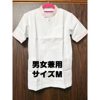 【値引】★新品★102★男女兼用白衣★半袖ジャケット★サイズM★247-23