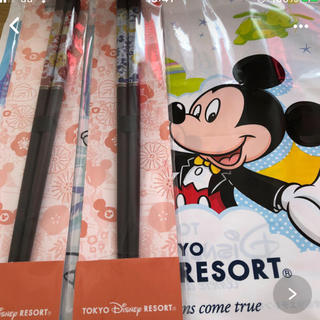 Disney - ディズニーリゾート 和モダン ミッキーミニー お箸2本セット未開封