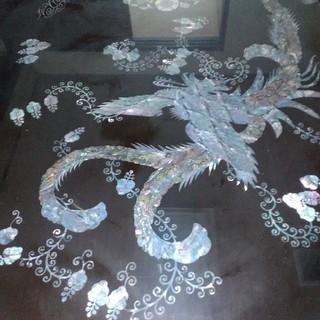 貝殻のテーブル 高級品(ローテーブル)