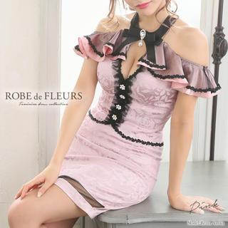 ローブ(ROBE)の ROBE de FLEURS チョーカー風×ローズ柄 セットアップドレス(ミニドレス)