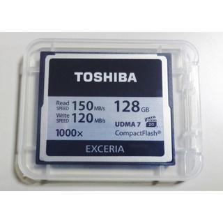 トウシバ(東芝)のコンパクトフラッシュ TOSHIBA 128GB 1000倍速  CFカード(デジタル一眼)