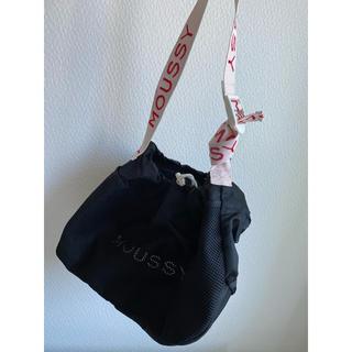 マウジー(moussy)のmoussy studio wear ナイロンメッシュバッグ ブラック(トートバッグ)