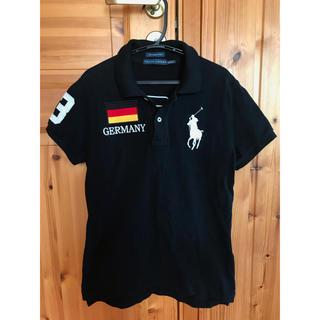 POLO RALPH LAUREN - ラルフローレン ポロシャツ Germany ブラック ロゴ スキニー POLO