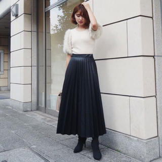rienda - プリーツロングスカート