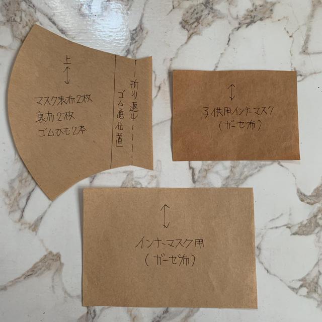 ますく型紙セットの通販