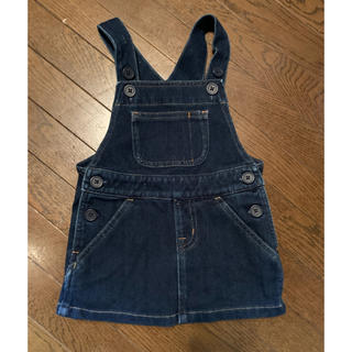 ムジルシリョウヒン(MUJI (無印良品))の無印良品 デニムオーバーオールスカート 80サイズ(スカート)