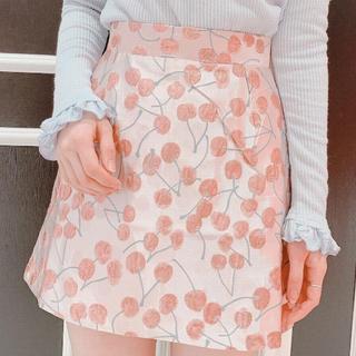 lilLilly - lilLilly チェリージャガードスカート
