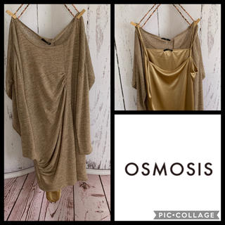 OSMOSIS - 《未使用》OSMOSIS ゆったりチュニックワンピースインナードレス付