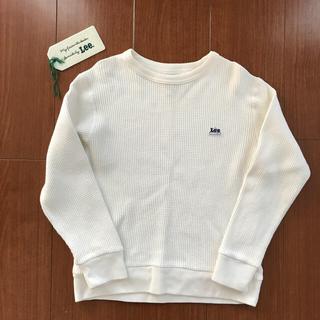 リー(Lee)のLEE ワッフルトレーナー 130 オフホワイト(Tシャツ/カットソー)