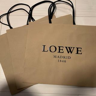 ロエベ(LOEWE)のLoewe 紙袋3枚セット(ショップ袋)