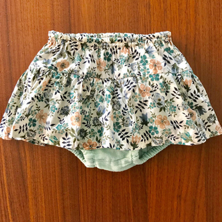 リバティ♡ブルマつき切り替えスカート+プチバトー長袖Tシャツ(スカート)