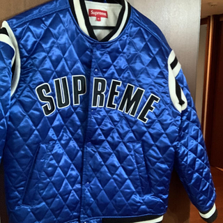Supreme - スタジャン  supreme quilted varsity jacket m