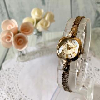 アガット(agete)の【美品】agete アガット クラシック 腕時計 0.028ct K10 ダイヤ(腕時計)