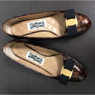 Ferragamo - フェラガモ パンプス 靴 23.5 23 レオパード柄 ヒョウ柄