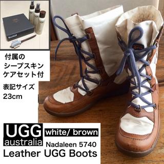 アグ(UGG)の日本未発売 UGG Nadaleenブーツ 5740 ムートン レザー ナイロン(ブーツ)