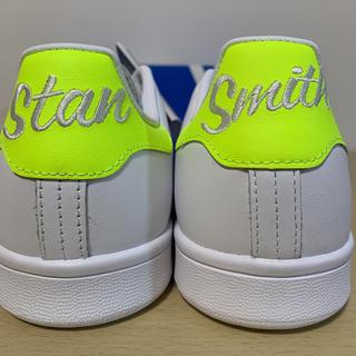 アディダス(adidas)の新品 アディダス スタンスミス 蛍光 刺繍 イエロー 黄 25.5(スニーカー)