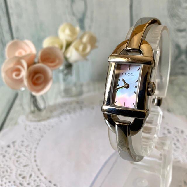 中国 偽物 時計 、 Gucci - 【動作OK】GUCCI グッチ 腕時計 6800L ピンク シェル シルバーの通販
