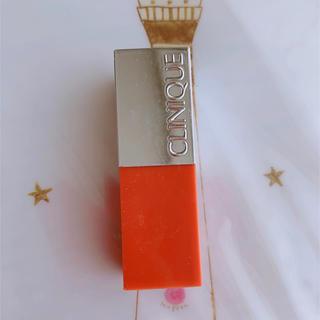 クリニーク(CLINIQUE)の美品★クリニークポップ パパイヤポップ リップカラー(口紅)