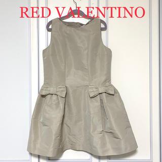 レッドヴァレンティノ(RED VALENTINO)の【新品・タグ付き】RED VALENTINO リボン ワンピース サイズ46(ひざ丈ワンピース)