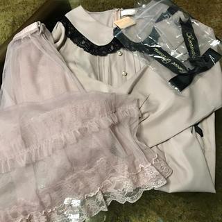 リズリサ(LIZ LISA)のシースルーチュールスカート付きワンピース(ロングスカート)