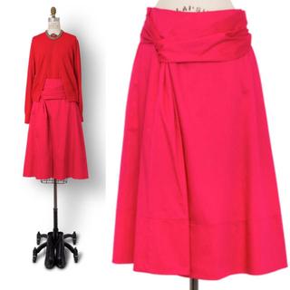 ドゥロワー(Drawer)の定価61600円 drawer ドゥロワー 春夏 スカート ピンク 34(ひざ丈スカート)