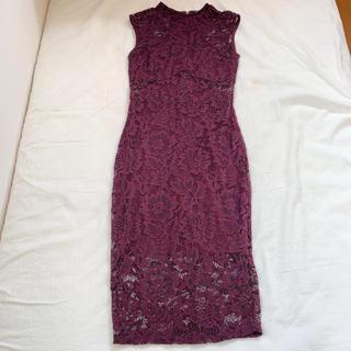 【ほぼ新品】ドレス パーティー レース(ロングドレス)