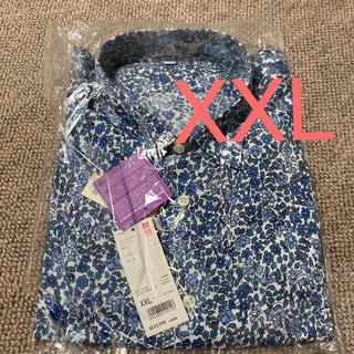 ユニクロ(UNIQLO)の必見☆UNIQLO☆ 新品 プレミアムリネンプリントシャツ 長袖 花柄 XXL(シャツ)