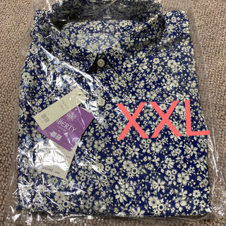 ユニクロ(UNIQLO)の必見❷☆UNIQLO☆新品 プレミアムリネンプリントシャツ 長袖 XXL(シャツ)