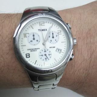 タイメックス(TIMEX)のTIMEX CHRONOGRAPH INDIGLO と記された時計(腕時計(アナログ))
